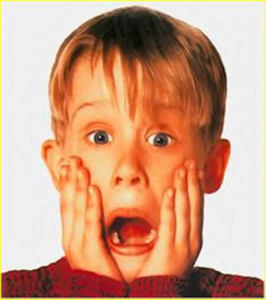 shocked!  Home Alone