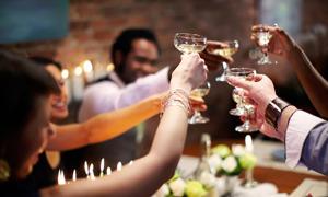 Wine-tasting dinner party